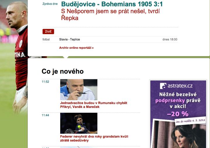 nový design sport.cz