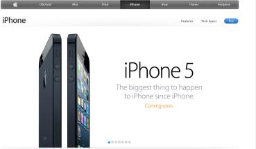 web Apple 20:58 - iPhone5 byl představen