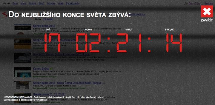 Konec světa by Seznam.cz
