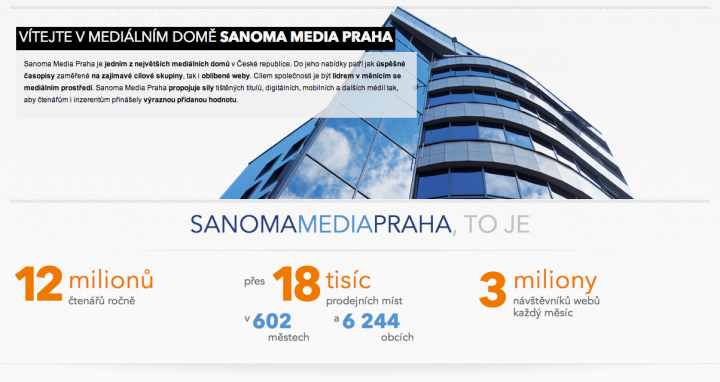 Nový web Sanoma Media