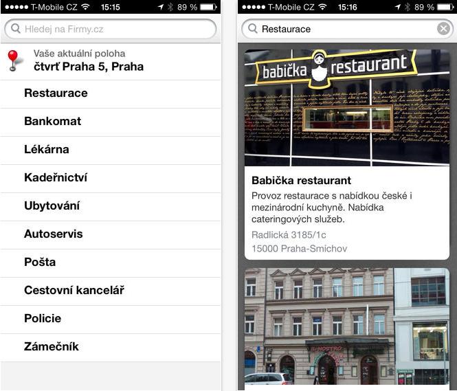 Firmy.cz pro iPhone